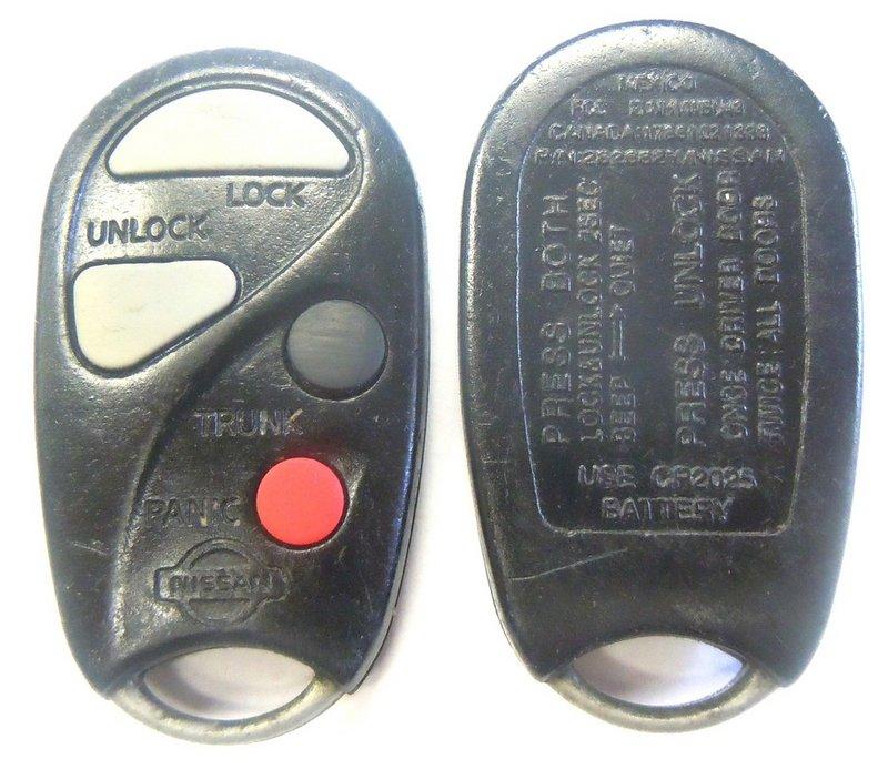 1999 2000 Infiniti I30 FCC ID NHVWBU43 keyless remote key