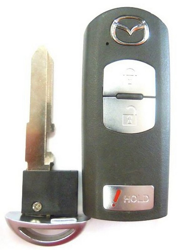 Mazda FCC ID WAZSKE13D01 smart keyless remote key fob control