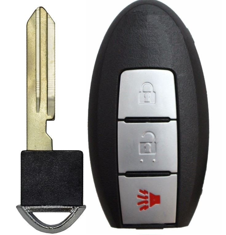 OEM Electronic 4-Button Key Fob Remote Compatible With Nissan FCC ID: KBRASTU15, P//N: 28268-ZB700, 28268-C991C