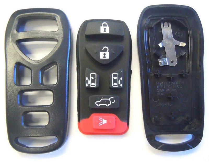 Original Nissan QUEST KBRASTU51 keyless remote key fob transmitter OEM 6 buttons