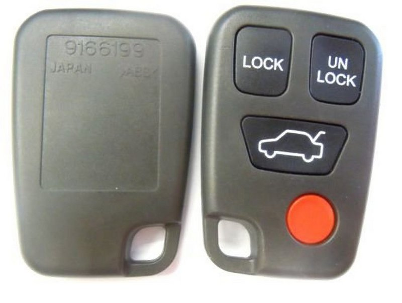 volvonew replacement case shell and button pad for volvo fcc id hyq1512j hyq 1512j part 9166200 keyless remotetransmitter control keyfob key fob controller