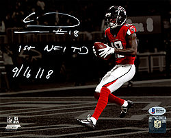 e53fc5ff27a Calvin Ridley Autographed Signed 8x10 Photo Atlanta Falcons 1st NFL TD  9/16/18