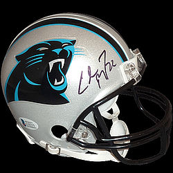 c76070cee Christian McCaffrey Autographed Signed Auto Carolina Panthers Mini Helmet    Beckett - Certified Authentic