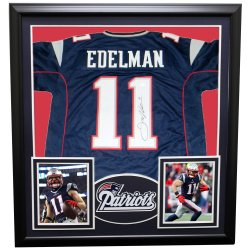 8a8e7fd3cd2 Julian Edelman New England Patriots Framed Autographed Signed Custom Jersey  - JSA Authentic
