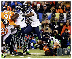 d7585044 Marshawn Lynch Autographed Signed 8x10 Photo Seattle Seahawks Super Bowl ML  Holo Stock #130749 -