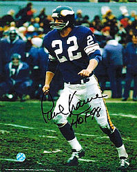 Paul Krause Autographed Minnesota Vikings 8x10 Photo HOF 98 facing left -  Hand Signed Football Collectibles 7ca1a30fb