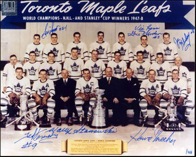 ace71ae23 1948 Toronto Maple Leafs Stanley Cup Team Autographed Signed 8x10 Photo: 7  Autographs #/