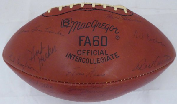 1963 Green Bay Packers Autographed Signed Football With 48 Signatures Including Vince Lombardi & Bart Starr Beckett Bas #A52079