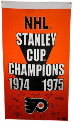 1974-75 Philadelphia Flyers Team Autographed Signed Stanley Cup Banner  12  Autographs - Certified ac87edbe8