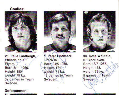 1981 Team Sweden Autographed Signed 4x6 Program With 23 Total Signatures Including Pelle Lindbergh - PSA/DNA Certified
