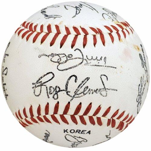 1986 Boston Red Sox Team Stamped Souvenir Baseball Roger Clemens SKU #163826