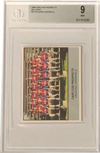 1988 Cape Cod Prospects Orleans Cardinals Ballpark Card #22- Frank Thomas- Beckett Graded 9 Mint