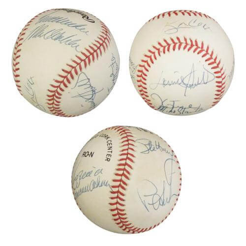 ff02154d2f2 1995 Atlanta Braves World Series Partial Team Autographed Signed Auto  Baseball   10 Signatures - Certified