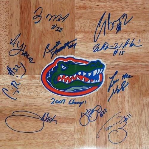 2006-07 Florida Gators Team Autographed Signed 1?x1' Parquet Floor