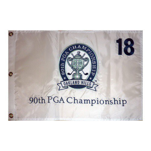 2008 PGA Championship (Oakland Hills Embroidered) Golf Pin Flag - Padraig Harrington Champion