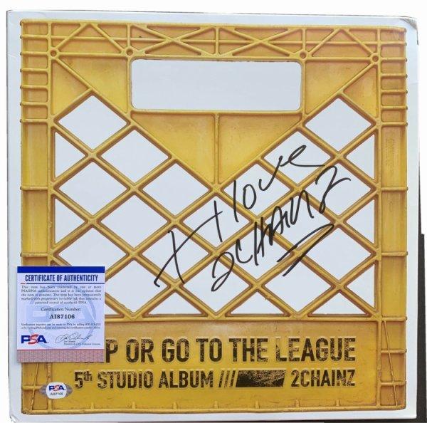 2 Chainz Autographed Signed Autographed Vinyl PSA/DNA COA Rap