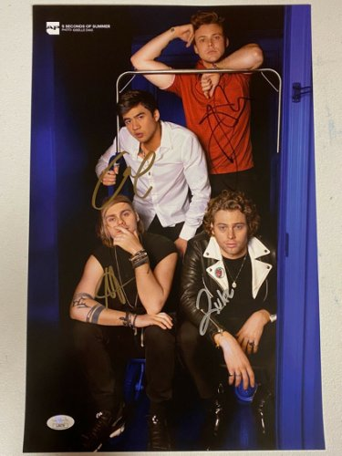 5 Seconds Of Summer Autographed Signed Autographed Poster With JSA COA