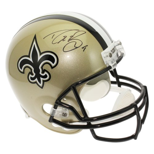 9989ae694 Drew Brees Autographed Signed New Orleans Saints Full Size Replica Helmet -  PSA/DNA Certified Authentic