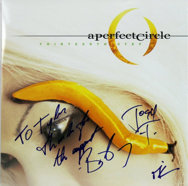 A Perfect Circle Autographed Signed (3) Keenan, Howerdel & Freese Album Cover W/ Vinyl Beckett
