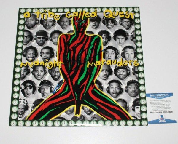 A Tribe Called Quest Autographed Signed Q-Tip 'Midnight Marauders' Vinyl Record Lp Beckett COA