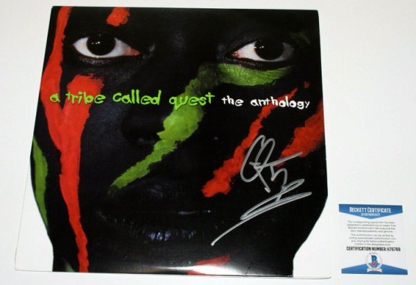 A Tribe Called Quest Autographed Signed Q-Tip 'The Anthology' Vinyl Record Lp Beckett COA Rap