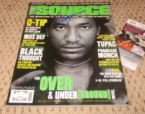 A Tribe Called Quest Autographed Signed Q Tip The Source Magazine Autograph JSA Qtip Q-Tip