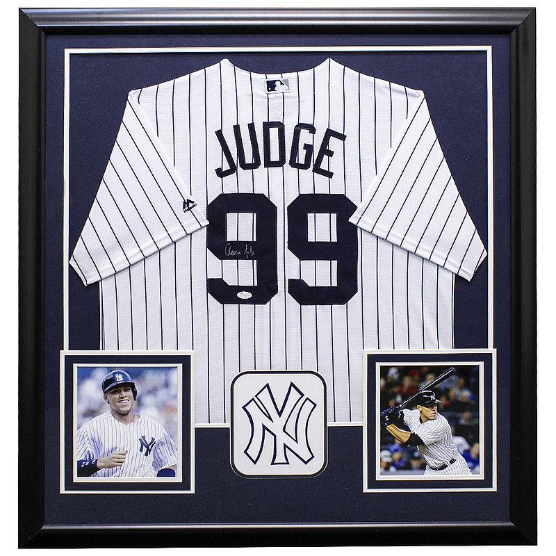 innovative design 2f279 9dfd9 Aaron Judge Autographed Memorabilia | Signed Photo, Jersey ...