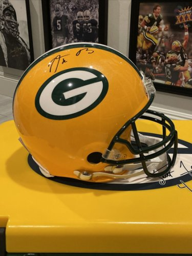 Aaron Rodgers Autographed Signed Green Bay Packers Auto Autograph Authentic Helmet Fanatics COA