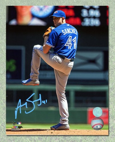 check out 3c15d b9195 Aaron Sanchez Toronto Blue Jays Autographed Signed Baseball ...