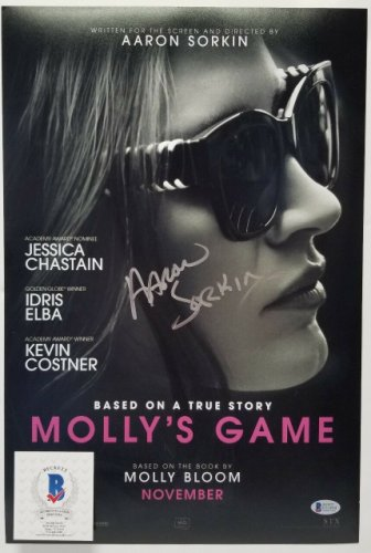 Aaron Sorkin Autographed Signed Autographed Molly's Game 12X18 Photo. Beckett Beckett