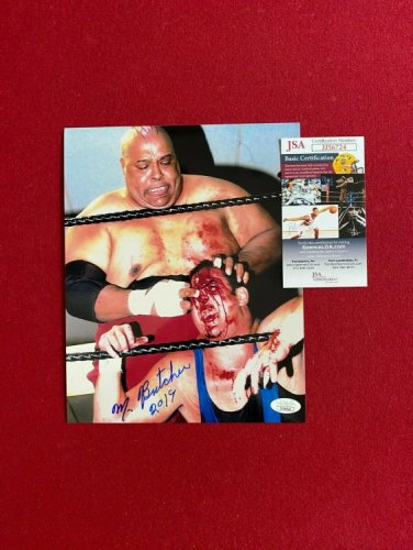 Abdullah The Butcher Autographed Signed ,  (JSA) 8X10 Photo (Scarce / Vintage)