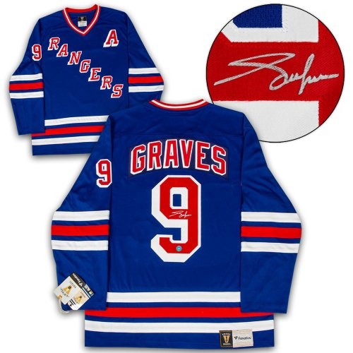 6288837260c Adam Graves New York Rangers Autographed Signed Fanatics Vintage Hockey  Jersey - Certified Authentic