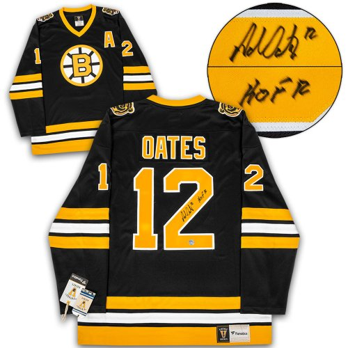 cb7577937 Adam Oates Boston Bruins Autographed Signed Fanatics Vintage Hockey Jersey  - Certified Authentic