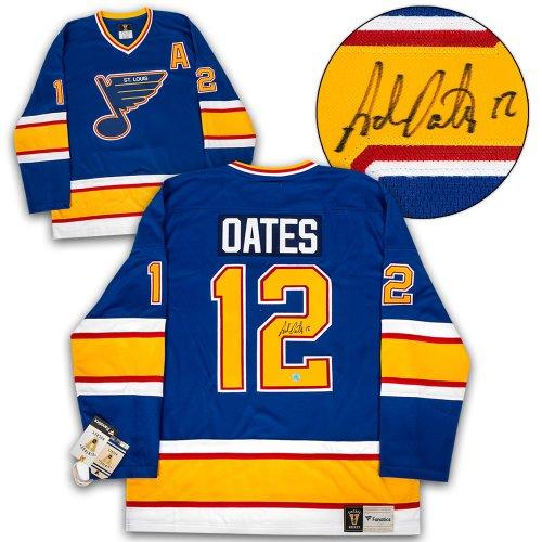 b658e739 Adam Oates St. Louis Blues Autographed Signed Memorabilia Fanatics Vintage  Hockey Jersey - Certified Authentic