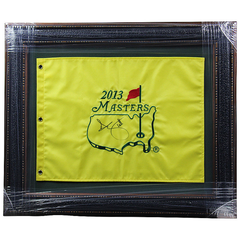 Adam Scott Autographed Signed Premium Framed 2013 Masters Pin Flag - Certified Authentic