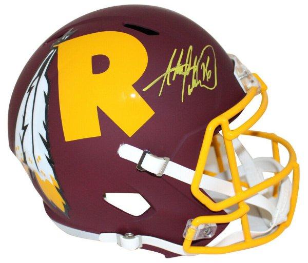 Adrian Peterson Autographed Signed /Signed Washington Redskins Amp Helmet Beckett