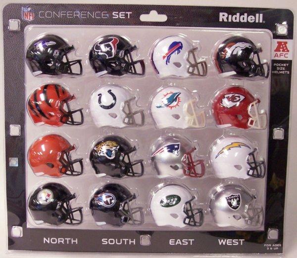 AFC Conference Pocket Pro Speed Mini Helmet Set