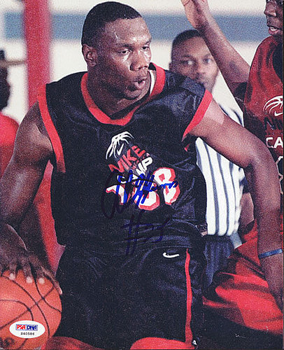 Al Jefferson Autographed Signed 8x10 Photo High School - PSA/DNA Certified