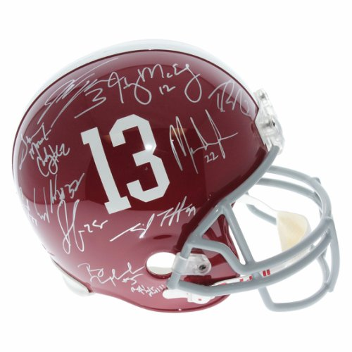 788e7591ad5 Alabama Crimson Tide 2009 National Champions Team Signed Riddell Full Size  Replica Helmet - Autographed by