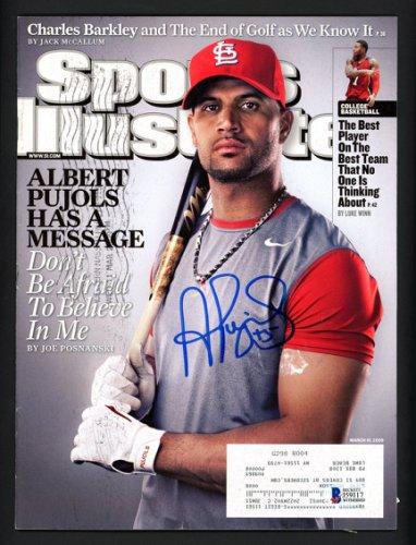 Albert Pujols Autographed Signed Sports Illustrated Magazine St. Louis Cardinals Beckett BAS #J59117