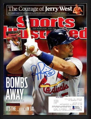 Albert Pujols Autographed Signed Sports Illustrated Magazine St. Louis Cardinals Beckett BAS #J59118