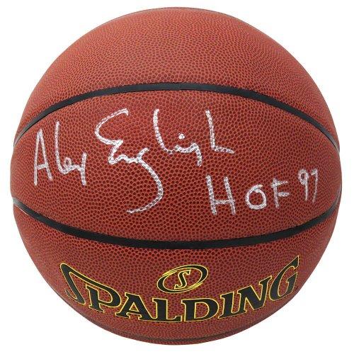 Alex English Autographed Signed Spalding Indoor/Outdoor NBA Basketball w/HOF'97