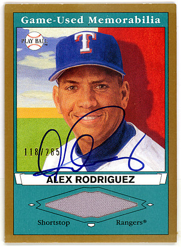 Alex Rodriguez Autographed Signed 2003 Upper Deck Play Ball