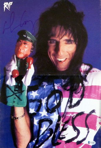 Alice Cooper Autographed Signed 11X15.5 Magazine Page Photo Musician Beckett Bas #H44367