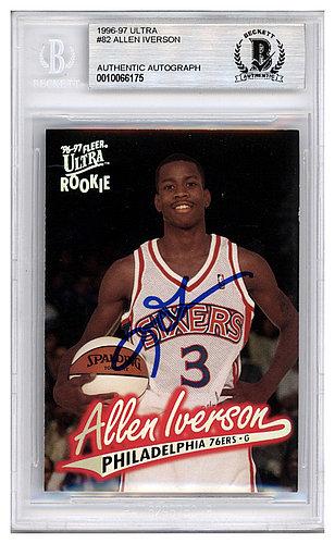 reputable site b4785 a1cbb Allen Iverson Autographed Memorabilia | Signed Photo, Jersey ...