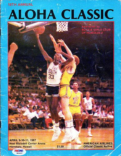Aloha Classic Autographed Signed Program Including Jim Valvano Reggie Miller Scottie Pippen and Reggie Lewis - PSA/DNA Certified