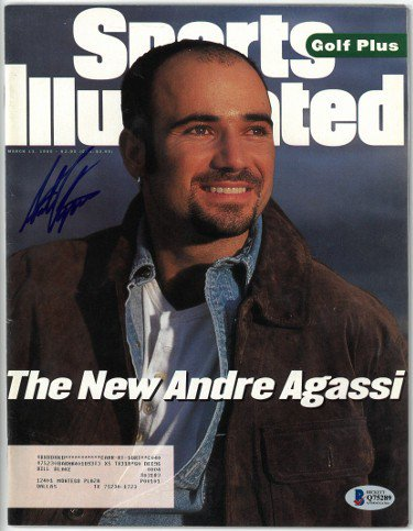 Andre Agassi Autographed Signed Tennis Sports Illustrated Full Magazine 3/13/95- Beckett/BAS #Q75289