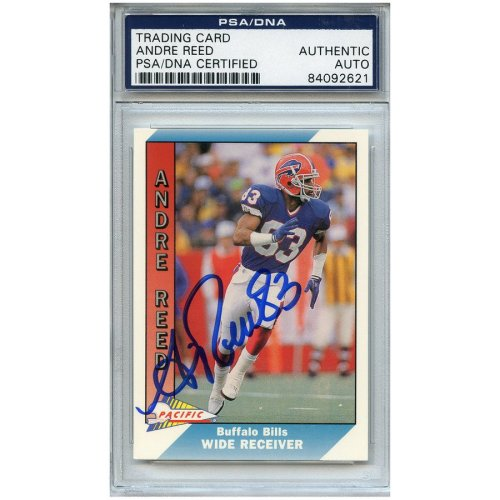 0b5883941 Andre Reed Autographed Signed Football Trading Card Buffalo Bills PSA DNA   84092621