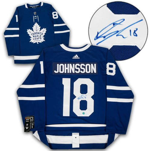 4b31d57bf32 Andreas Johnsson Toronto Maple Leafs Autographed Signed Adidas Authentic  Hockey Jersey - Certified Authentic