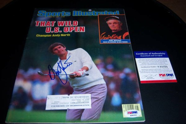 Andy North Autographed Signed Champ PSA/DNA Sports Illustrated